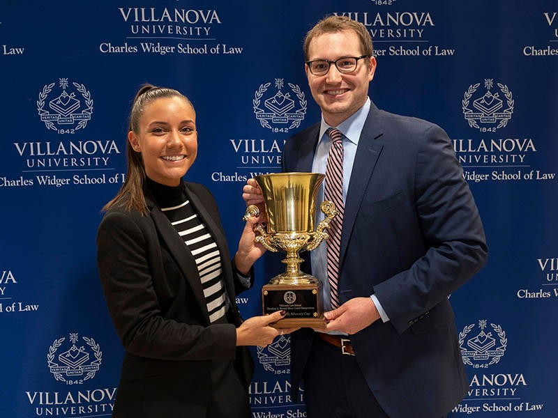 Vanessa Huber & Scott Zlotnick win the Reimel Moot Court Competition.