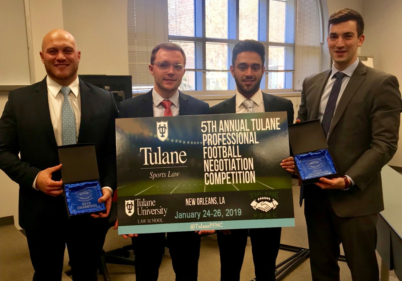 Winners of the Tulane Professional Football Negotiation Competition