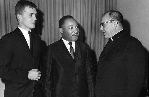 Rev. Dr. Martin Luther King, Jr., spoke at Villanova University on January 20, 1965.