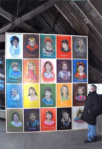 Painting in Remembrance of Sandy Hook Children On Exhibit in Villanova Art Gallery, Dec. 9-16