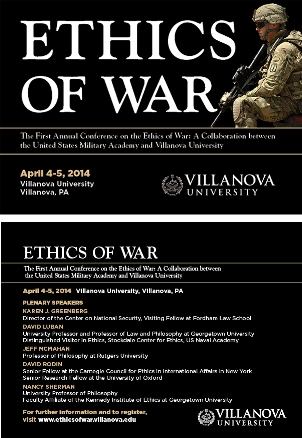 Ethics of War Conference flyer