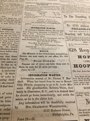 'Last Seen': Digitizing Ads from Former Slaves in Search of Loved Ones