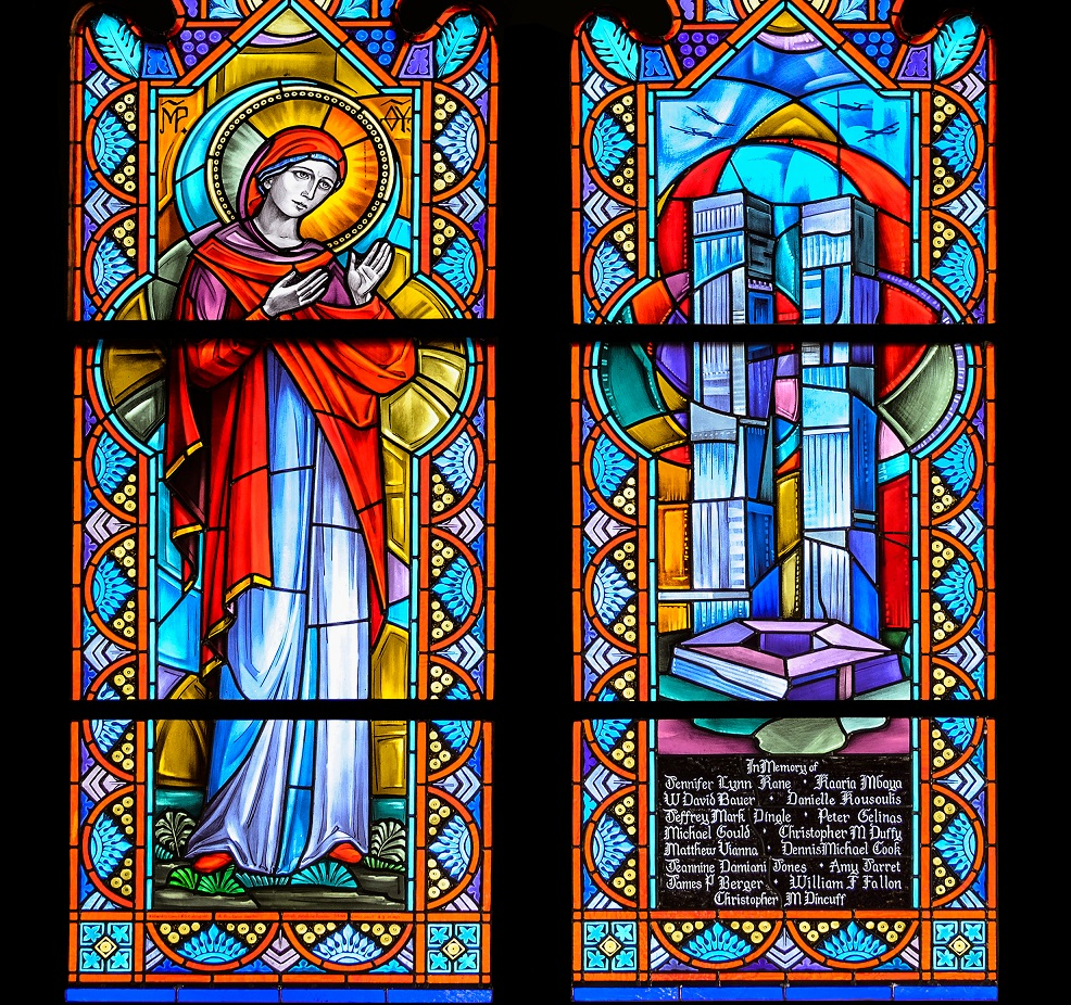 Stained Glass Window Memorial Remembers Villanovans Lost on 9/11