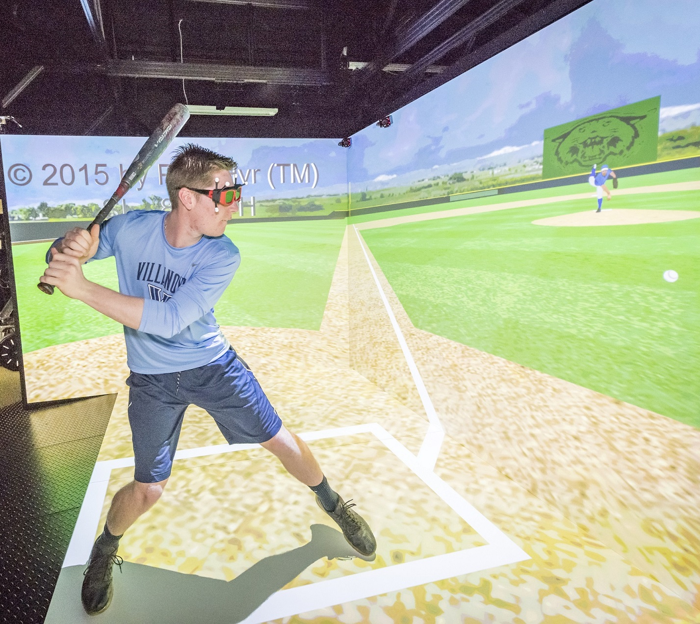 Villanova faculty making batting practice a virtual reality