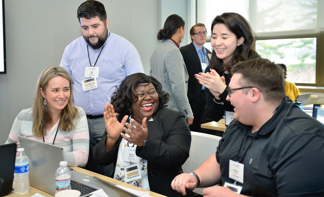 Five students in Villanova University's Master of Public Administration program formed the winning team in the global 2019 NASPAA-Batten Student Simulation Competition