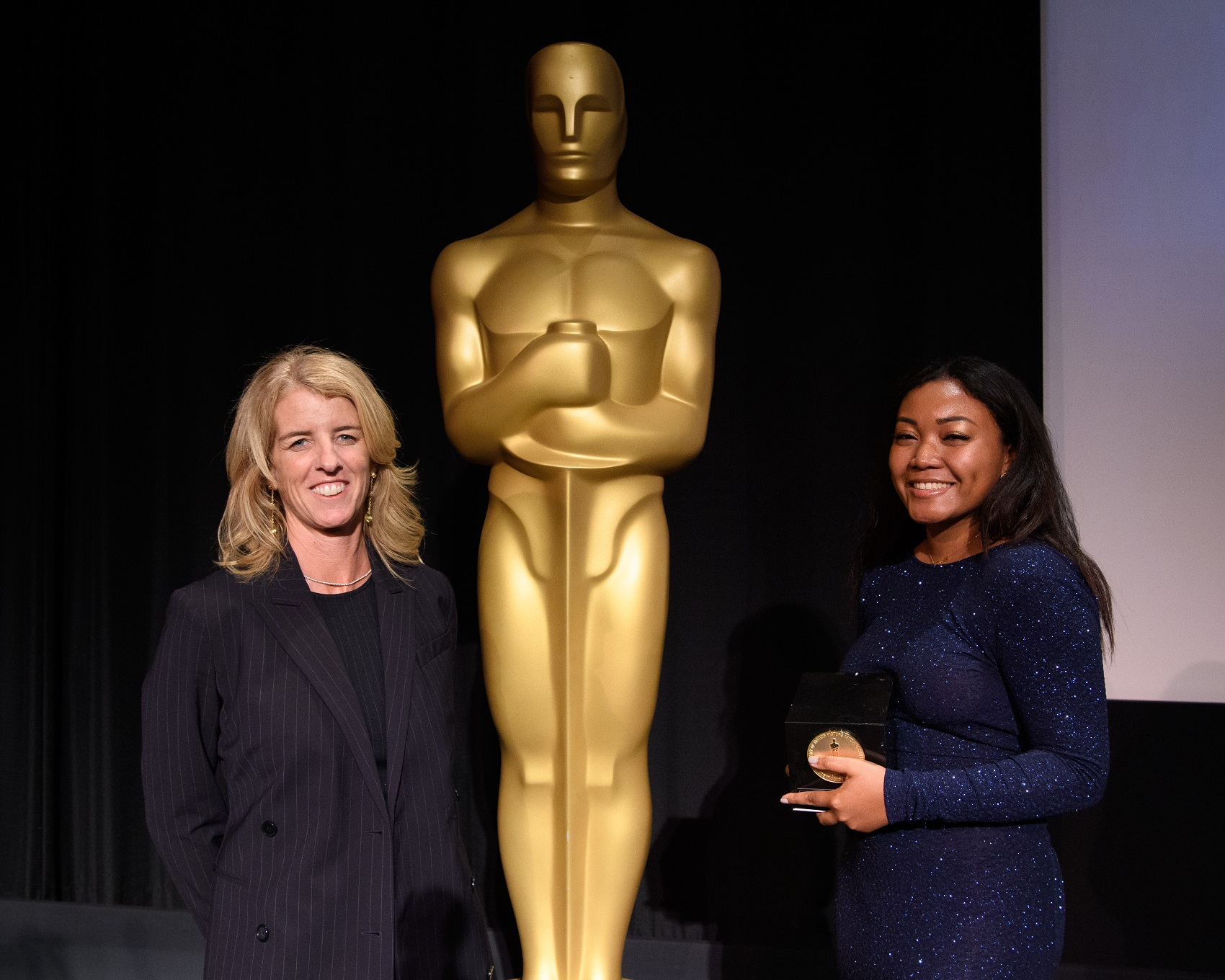 Princess Garrett, director of Sankofa, with the Student Academy Award gold medal.