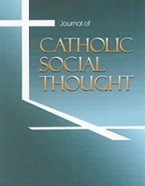 cover of Journal of Catholic Social Thought