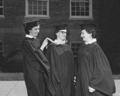 First RN completion students to receive a BSN instead of a BSN Ed. They are Anne Donnolly, Martha Palaninsky and Joan Large.