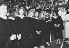 Nursing students at graduation, 1988.