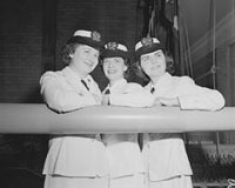 First three nursing students in Navy ROTC. 1960.