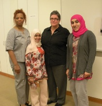 Tracy Swift-Merrick, mentored Mudhar Al Adawi and Zayana Al Saudi along with Dr. Elizabeth Petit de Mange.