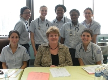 Christine Bossone collaborated with the Villanova nursing students