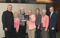 Members of the Nursing Alumni Association board receive the 2010 Leadership Award from the Villanova University Alumni Association