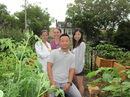 BSNExpress students help seniors garden