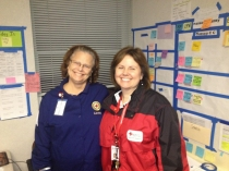 Deb hayden red Cross Hurr sandy with partner Linda from Milwaulkee