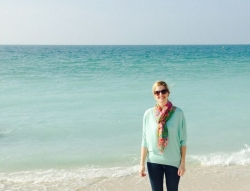 Katie Hooven on the Persian Gulf