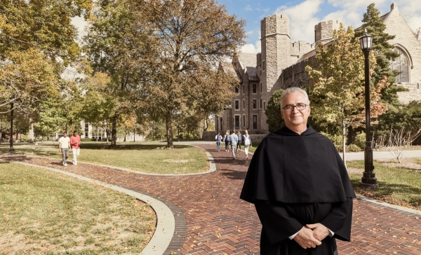 Father Peter On Campus