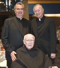 photo of Revs. Peter M. Donohue O.S.A., Edmund J. Dobbin, O.S.A., President Emeritus, and John M. Driscoll, O.S.A.
