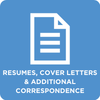 Resumes, Cover Letters & Additional Correspondence