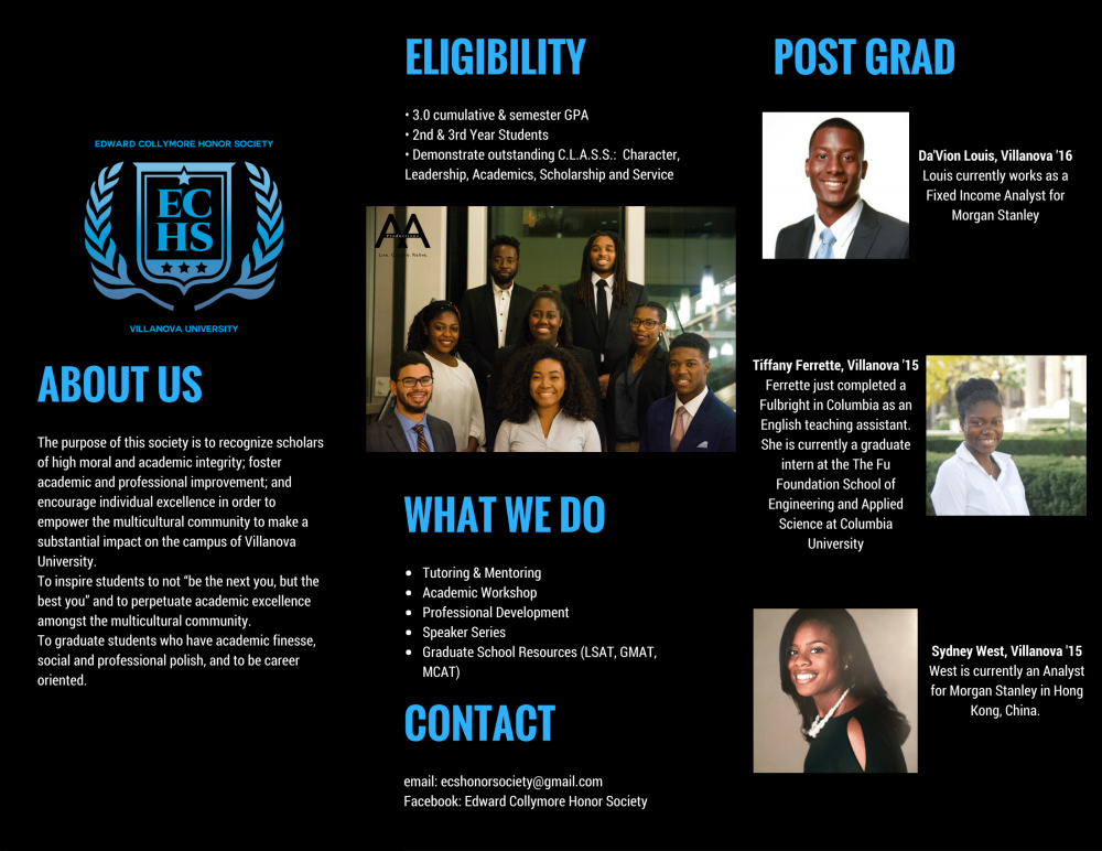 Edward Collymore Honor Society Brochure