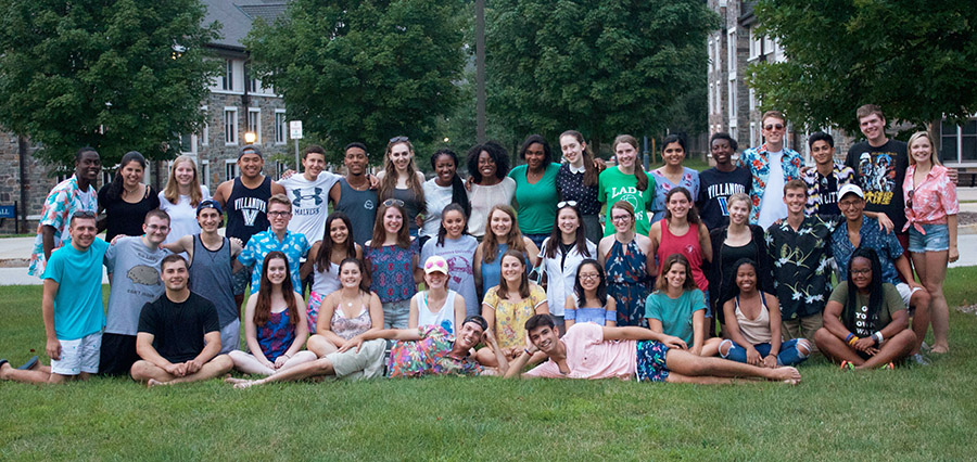 The Presidential Scholars Class of 2021 with their Summer Academy Student Leaders
