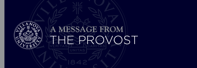 A Message from the Provost banner