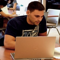 Students working online