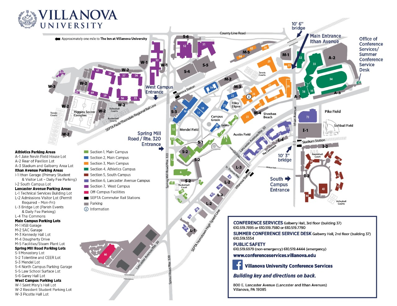 Campus Map and Directions | Villanova University on