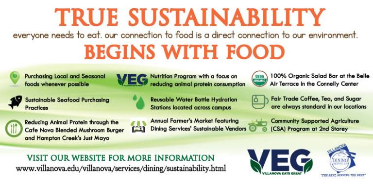 Sustainability within Villanova Dining Services