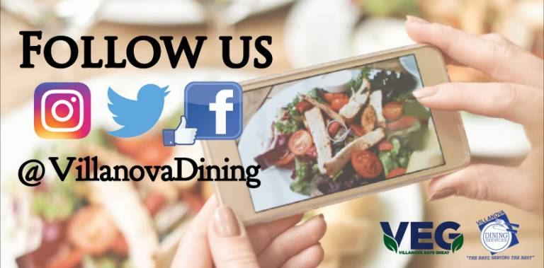 Follow Us on Social @VillanovaDining
