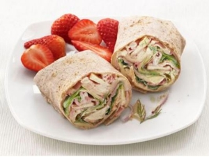 Ham Swiss Apple Wrap