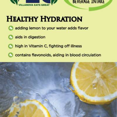 Healthy Hydration  adding lemon to your water adds flavor  aids in digestion high in Vitamin C, fighting off illness contains flavonoids, aiding in blood circulation
