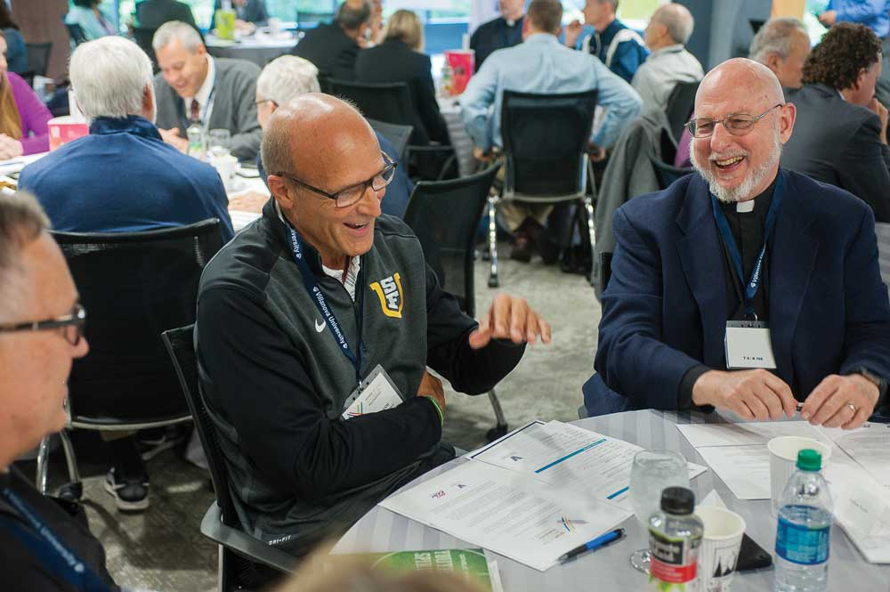 Frank Allocco, senior associate athletic director, External Relations, at the University of San Francisco, and the Rev. William Rickle, SJ, campus minister, Athletics and Student Life, at St. Joseph's University, share their experiences.