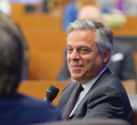 Jon M. Huntsman, Jr smiling at an event