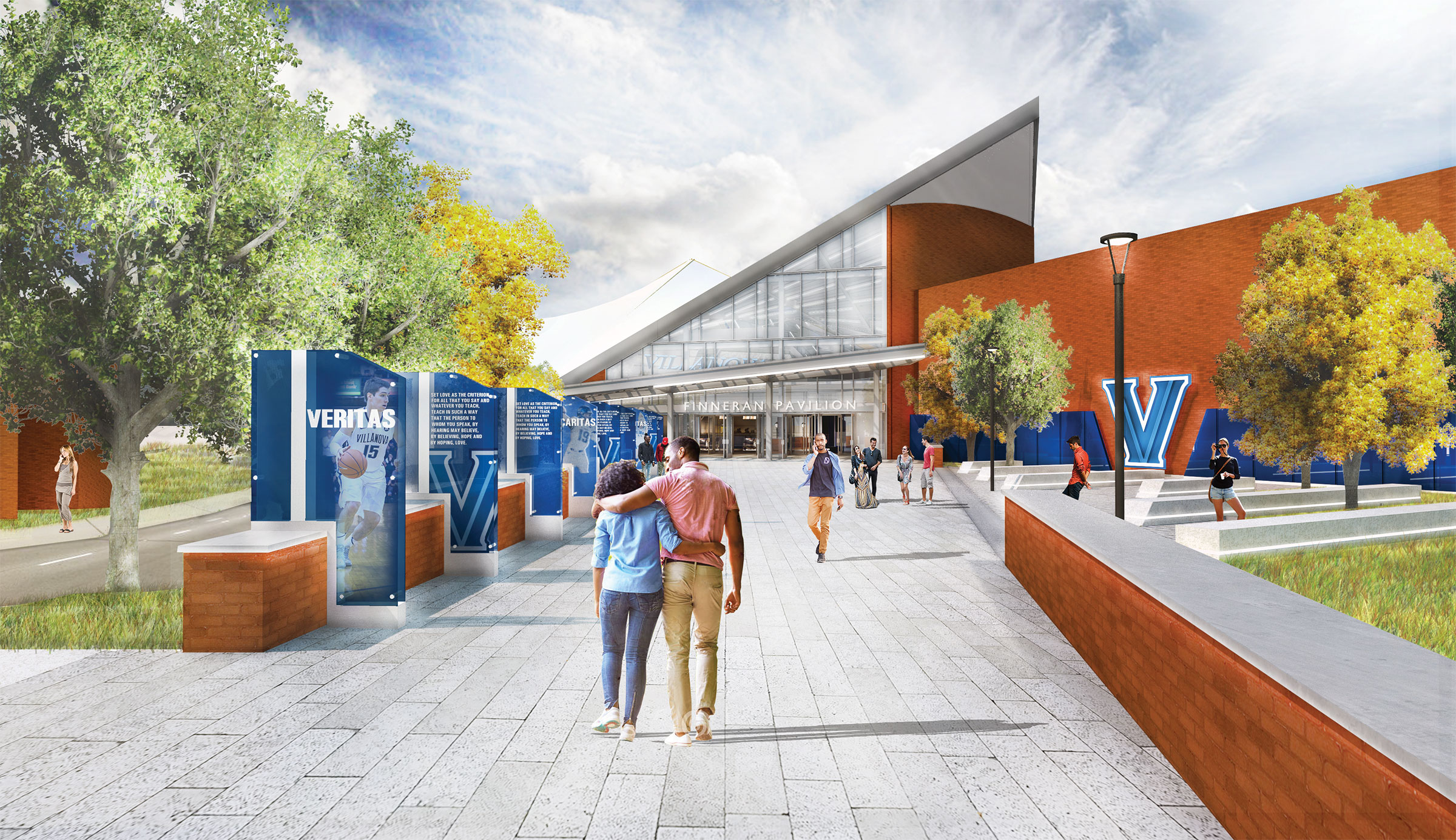 Rendering of the exterior of the Finneran Pavilion renovation