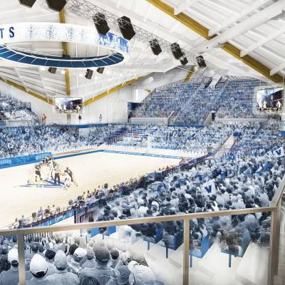 View of the new basketball arena