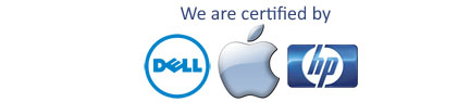 dell apple hp certified