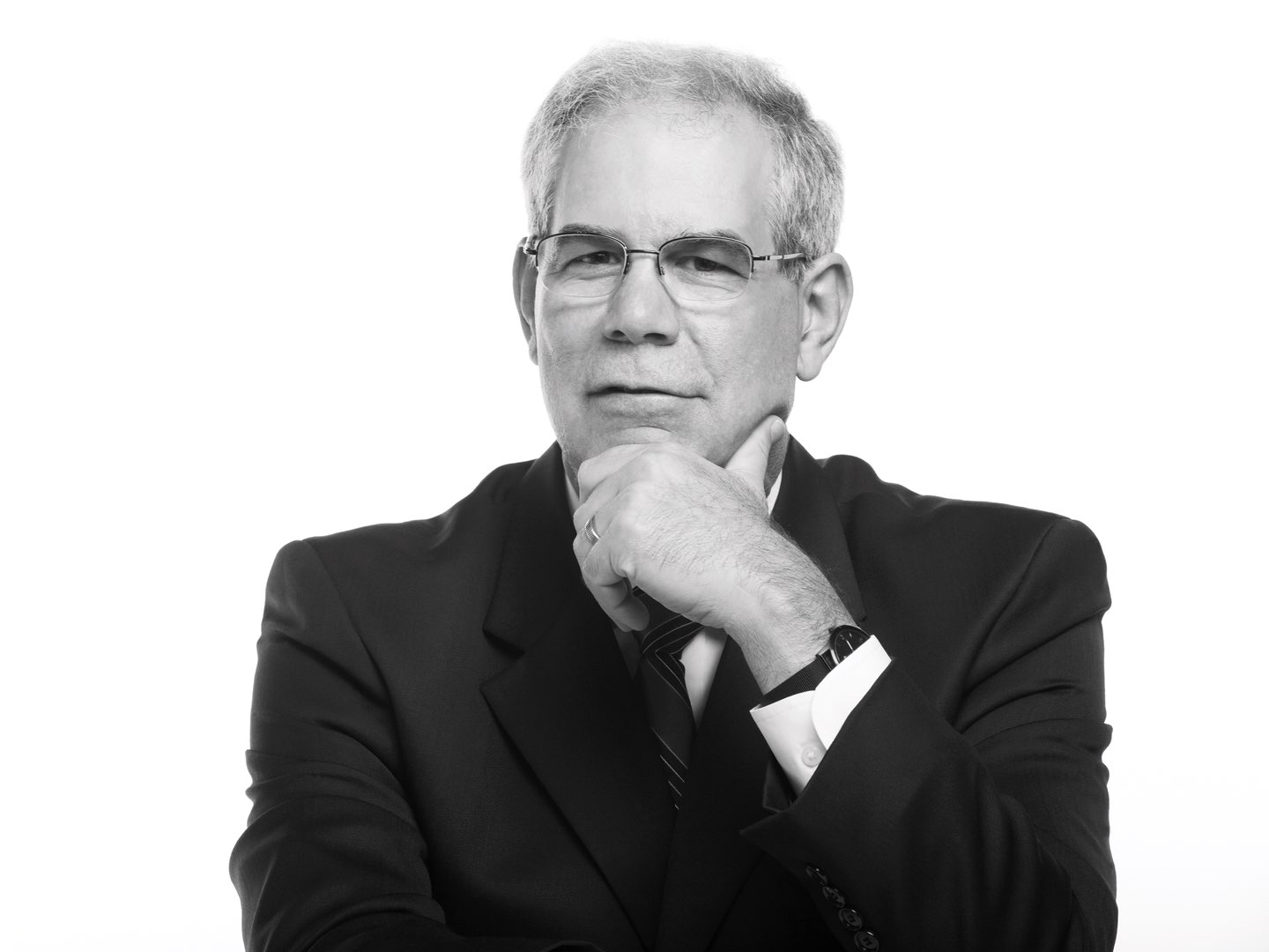 Black-and-white photo of Villanova College of Engineering Dean Gary Gabriele.