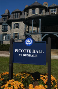 Picotte Hall Sign