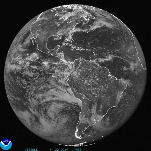 Latest GOES Visible Image