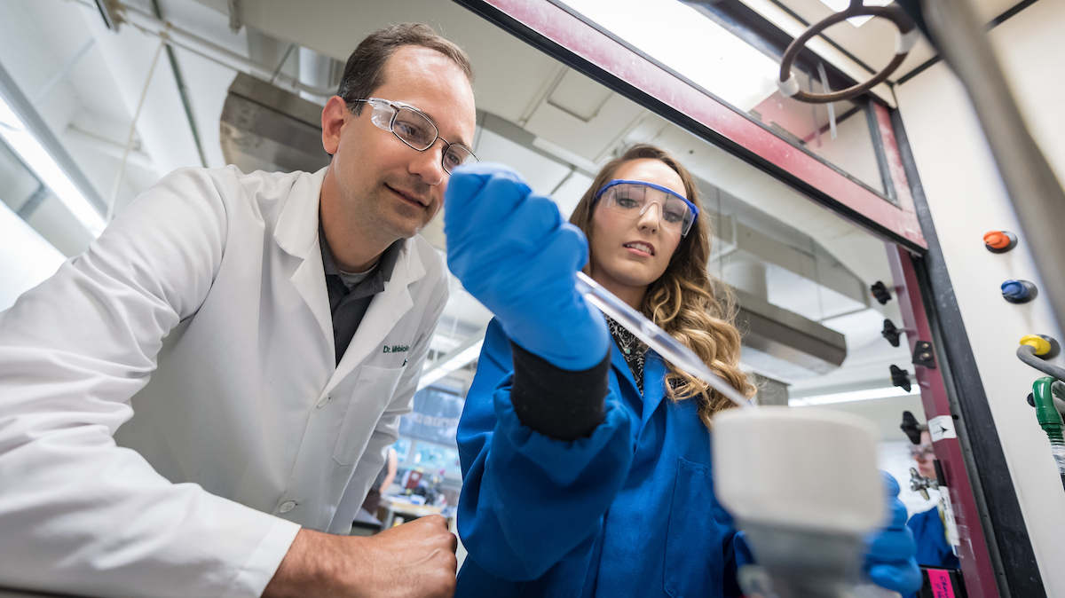 Hands-on learning alongside distinguished faculty is a hallmark of Villanova's  graduate chemistry program