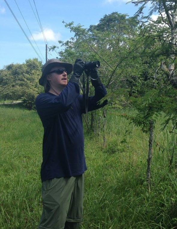 Mark Eastburn '17 MS conducts field research