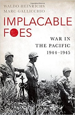 cover of the book Implacable Foes, showing US soldiers on a Pacific island