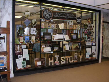 history display @ Falvey