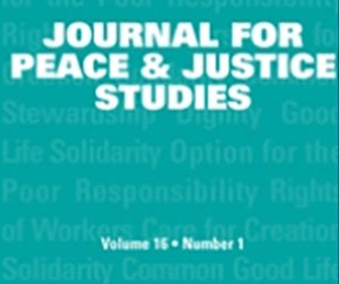 Journal for Peace and Justice Studies cover