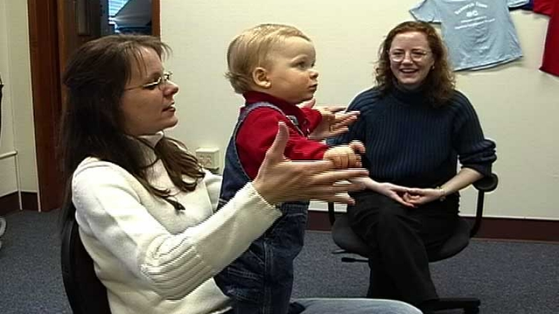 Image of a mother & child enjoying a study with Dr. Brand