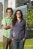 Justin Yeash ChE '09 and Amanda DelCore are pursuing the M.S. in sustainable engineering.