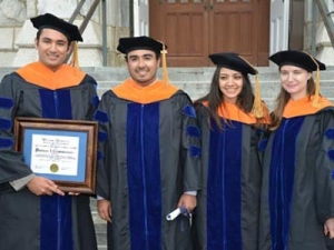 Parham I. Ghorbanian (far left) received the College's Outstanding Doctoral Student Award.