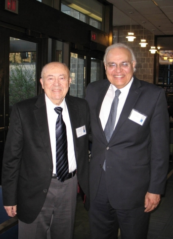 Dr. Amin with Dr.Andrew Viterbi, recipient of the 2005 Benjamin Franklin Medal in Electrical Engineering.