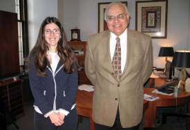 Doctoral student Branka Jokanovic with CAC Director Moeness Amin, PhD.